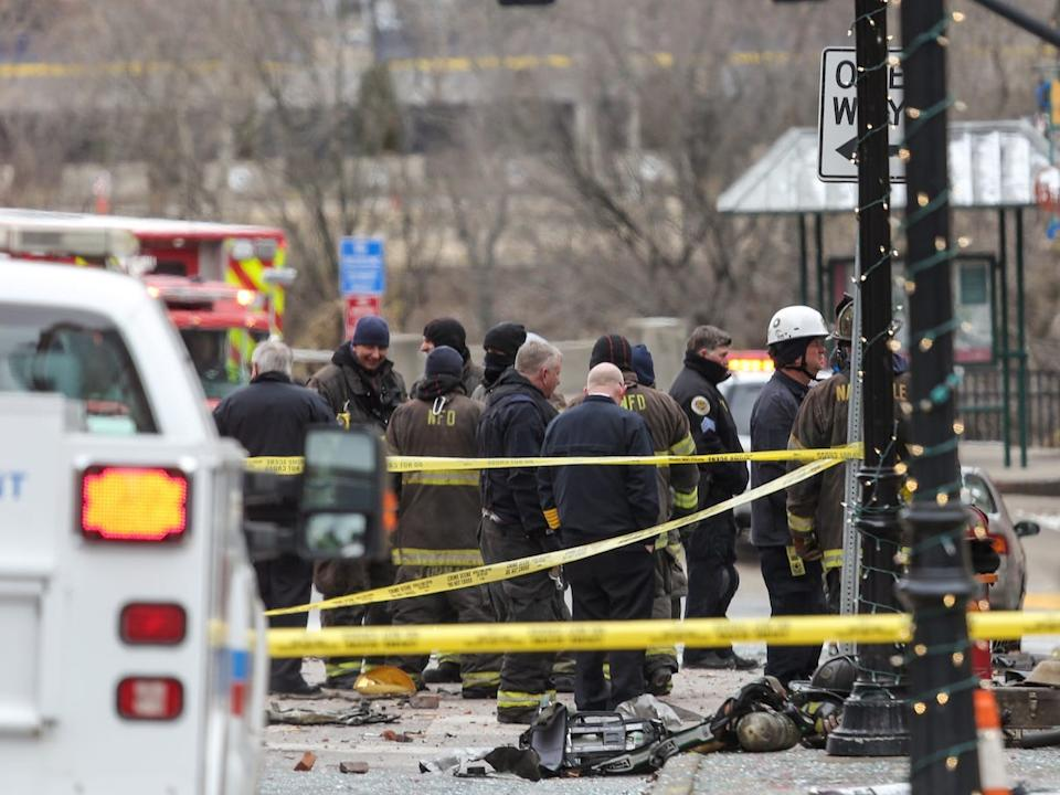 Investigators Believe The Nashville Blast Was A Suspected Suicide Bombing Human Remains Found At The Explosion Site Reports Say