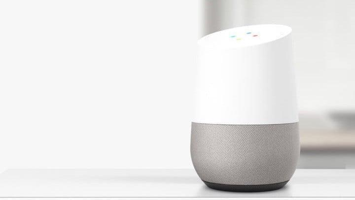 Image of Google Home, 16:9 scale