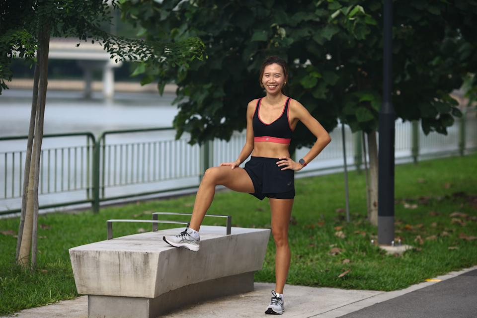 Singapore #Fitspo of the Chui Ling says her most significant achievement in track and field was breaking the 40-year-old national record for the 4x400m at the 2015 SEA Games in Singapore. Week: Goh Chui Ling (PHOTO: Cheryl Tay)