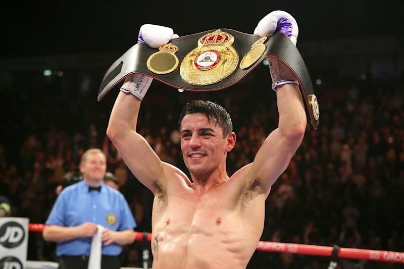 Crolla won the WBA title in 2015 after beating Darleys Perez Photo: Getty Images