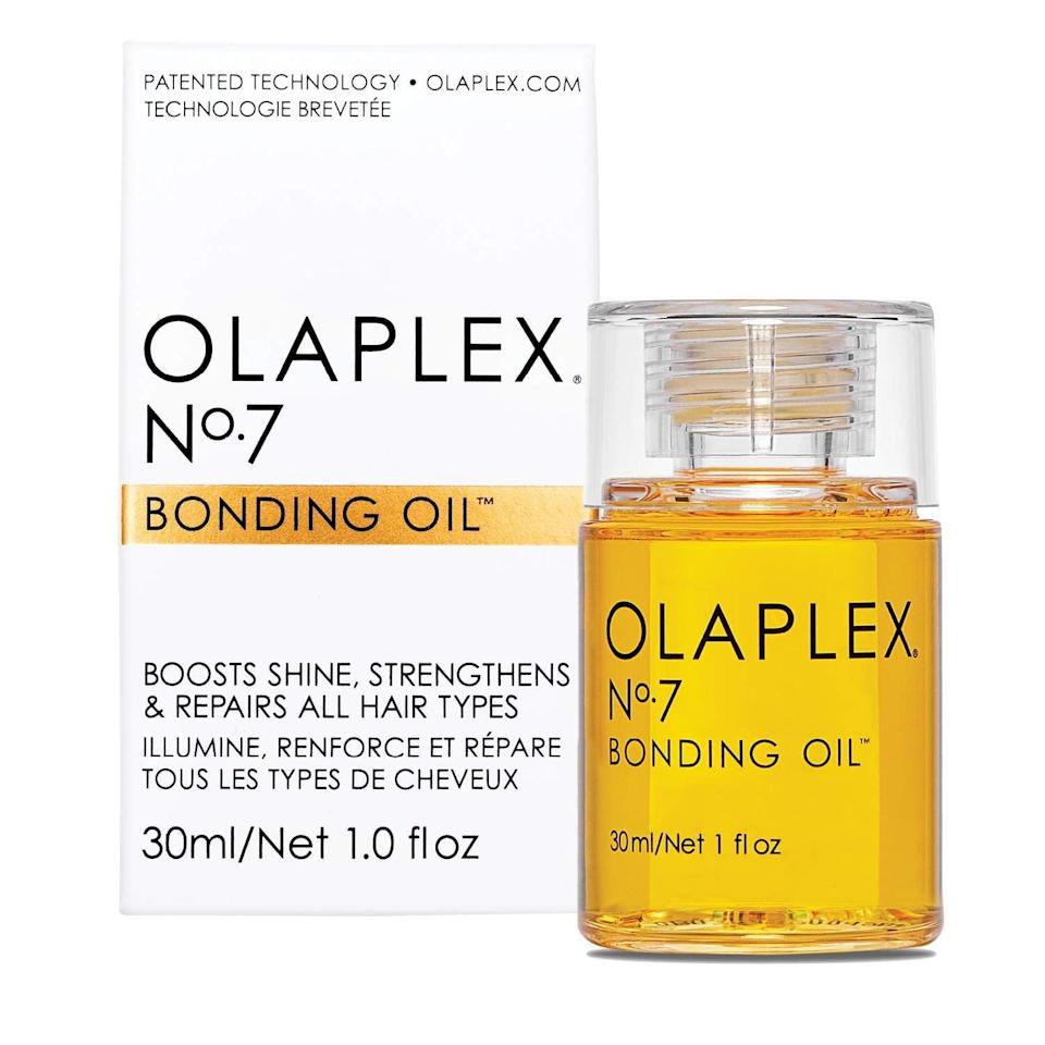 <p>Prevent damaged ends and breakage with the <span>Olaplex No.7 Bonding Oil</span> ($28).</p>