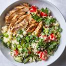 <p>Chicken breasts on the grill have a smoky flavor that's enhanced with an easy spice rub. We chose flat-leaf parsley in this salad because it has a stronger herbal taste than its sometimes-bitter curly counterpart.</p>