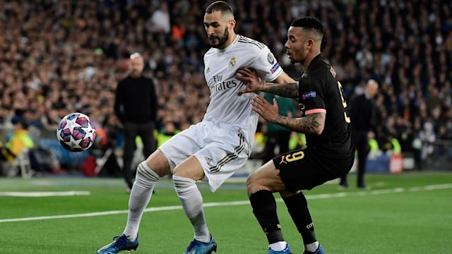 Karim Benzema Gabriel Jesus Real Madrid Manchester City Champions League 2020