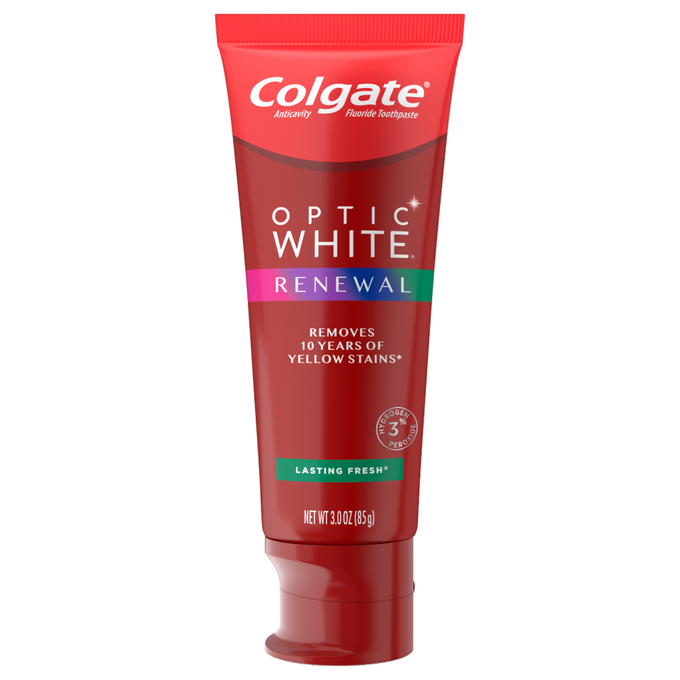 """<p><strong>Colgate</strong></p><p>walmart.com</p><p><strong>$6.96</strong></p><p><a href=""""https://go.redirectingat.com?id=74968X1596630&url=https%3A%2F%2Fwww.walmart.com%2Fip%2F854022279&sref=https%3A%2F%2Fwww.goodhousekeeping.com%2Flife%2Fmoney%2Fg35000690%2Fgh-editors-favorite-products-2020%2F"""" rel=""""nofollow noopener"""" target=""""_blank"""" data-ylk=""""slk:Shop Now"""" class=""""link rapid-noclick-resp"""">Shop Now</a></p><p>Franzino says that this <a href=""""https://www.goodhousekeeping.com/beauty-products/a32215214/best-beauty-awards-2020/"""" rel=""""nofollow noopener"""" target=""""_blank"""" data-ylk=""""slk:GH Beauty Award"""" class=""""link rapid-noclick-resp"""">GH Beauty Award</a>-winning toothpaste is the <strong>easiest possible way to whiten your teeth at home</strong>. """"Unlike other whitening toothpastes that don't contain active ingredients, this toothpaste delivers noticeable teeth whitening with no extra steps in your routine, thanks to high levels of the active lightening ingredient hydrogen peroxide (3%). </p>"""