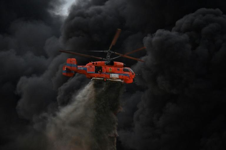 Helicopters dumped flame suppression foam onto the factory site, to no avail