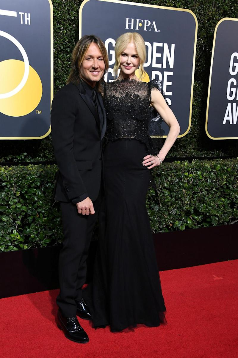 Nicole walked the red carpet earlier in the night with hubby Keith in tow. Source: Getty