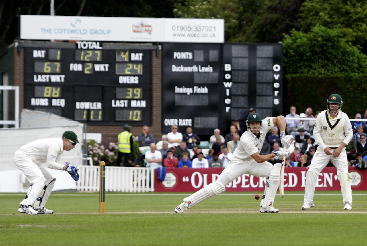 Worcestershire's Nick Compton bats during day two of the International Warm up match at New Road, Worcester.