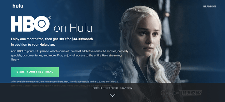 how to watch Game of Thrones online Hulu's HBO package