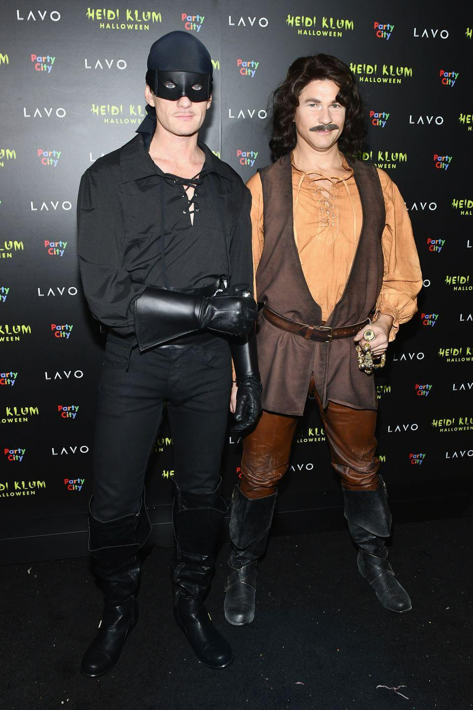 <p>As Westley and Inigo Montoya from <em>The Princess Bride</em>.</p>