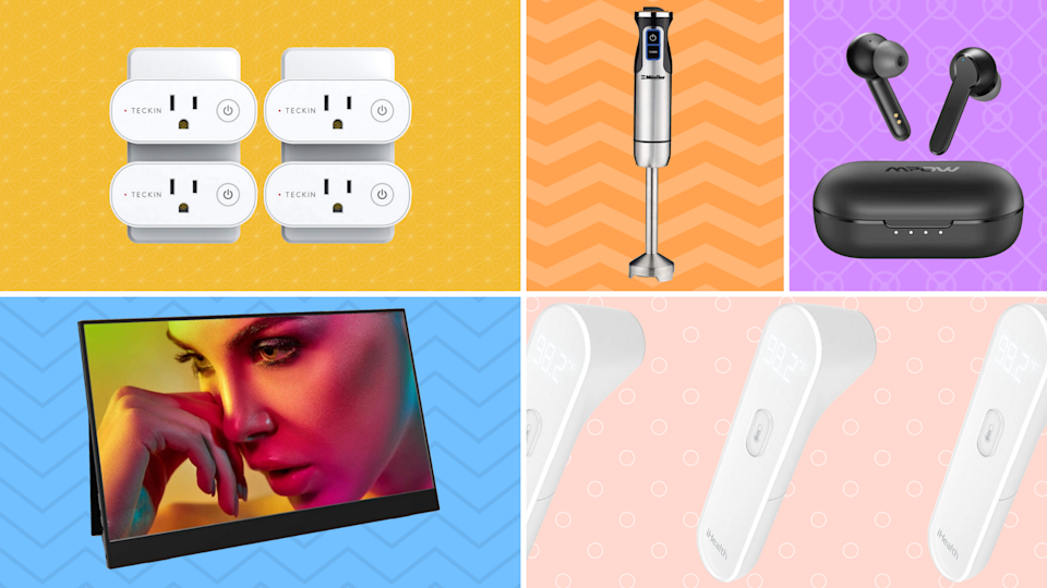 Save up to 62 percent on top-rated earbuds, smart plugs, hand blenders and more! (Photo: Amazon)