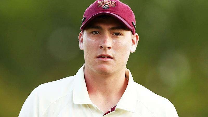 Matt Renshaw, pictured here in action for Queensland in the Sheffield Shield in 2019.