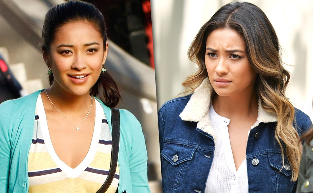 """<p>Mitchell modeled and did some TV work in Canada before joining <em>PLL</em>. Emily started out as the """"jock"""" of the group, since she was a swimming. Over the years, she has struggled with her sexuality, but now has embraced her feelings for Alison. (Photo: ABC/Getty Images) </p>"""
