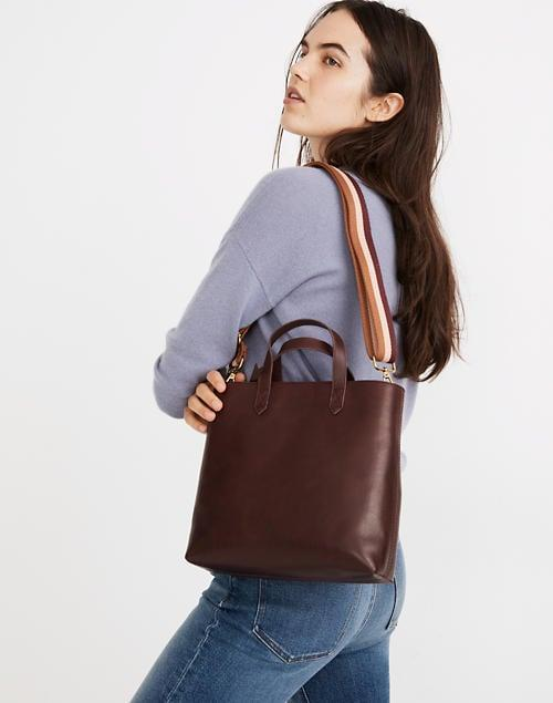 <p>If you're looking for a smaller and more versatile choice, get the <span>Madewell Zip-Top Transport Crossbody</span> ($148).</p>