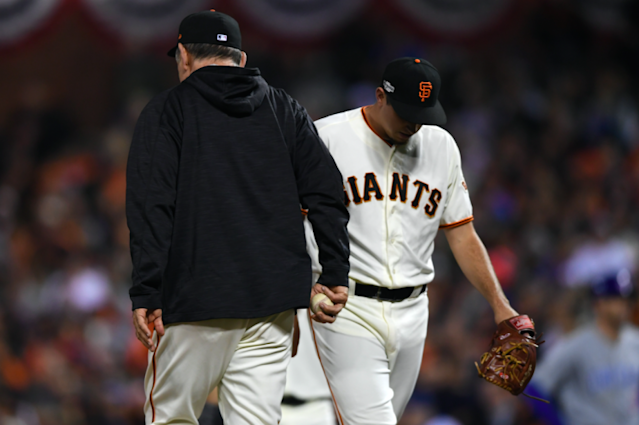 The Giants bullpen melted down in Game 1. (Getty Images/Thearon W. Henderson)