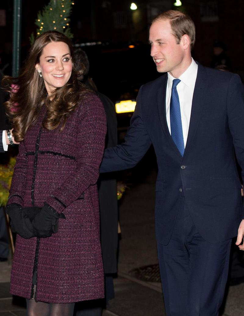 The duchess was pictured here in 2014 with Prince William wearing the exact same coat. Photo: Getty Images