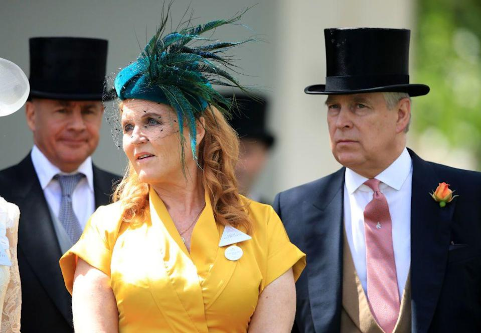 <p>Here's Fergie again with her ex-husband, the Duke of York.</p>