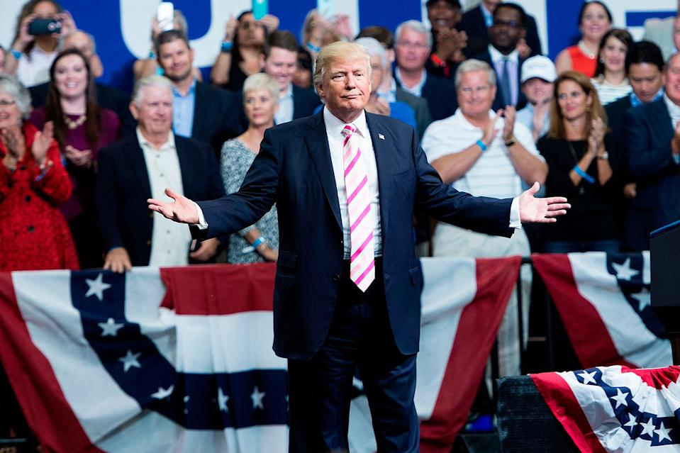 Donald Trump will be happy to speak to his supporters after the Senate's move to cut taxes.
