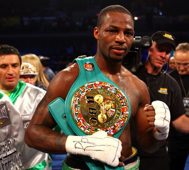 ATLANTIC CITY, NJ - APRIL 28:  Chad Dawson poses with his belt after he won by 12 round decision against Bernard Hopkins during their WBC & Ring Magazine Light Heavyweight Title fight at Boardwalk Hall Arena on April 28, 2012 in Atlantic City, New Jersey.  (Photo by Al Bello/Getty Images)