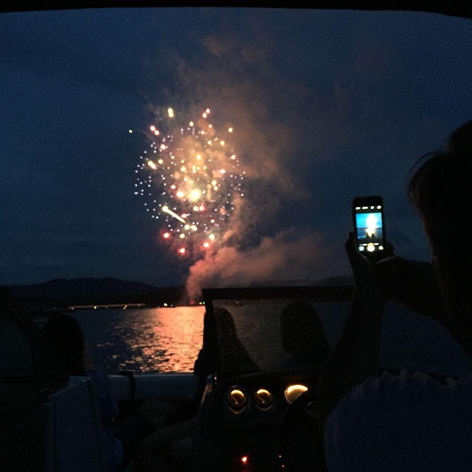 """<p><strong>Lake Blue Ridge, Georgia</strong></p><p>Watching fireworks at <a href=""""https://www.blueridgemountains.com/events/"""" rel=""""nofollow noopener"""" target=""""_blank"""" data-ylk=""""slk:Lake Blue Ridge"""" class=""""link rapid-noclick-resp"""">Lake Blue Ridge</a> in Georgia should be a breeze if you're planning on celebrating the Fourth of July from a boat this year.</p>"""