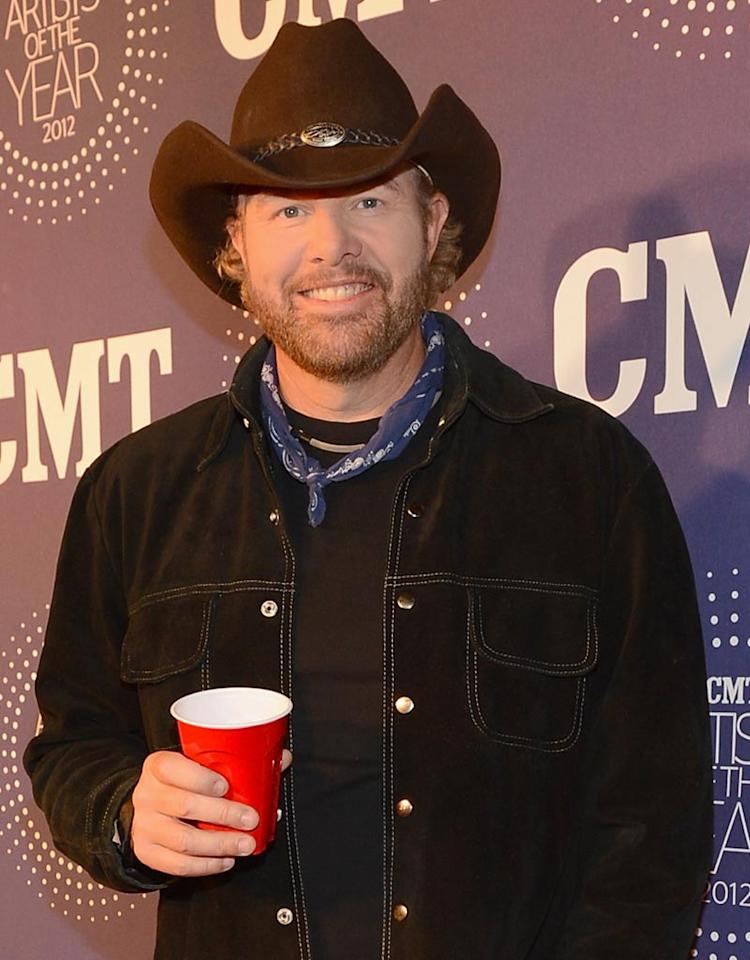 FRANKLIN, TN - DECEMBER 03:  Toby Keith attends 2012 CMT Artists Of The Year at The Factory at Franklin on December 3, 2012 in Franklin, Tennessee.  (Photo by Rick Diamond/Getty Images for CMT)