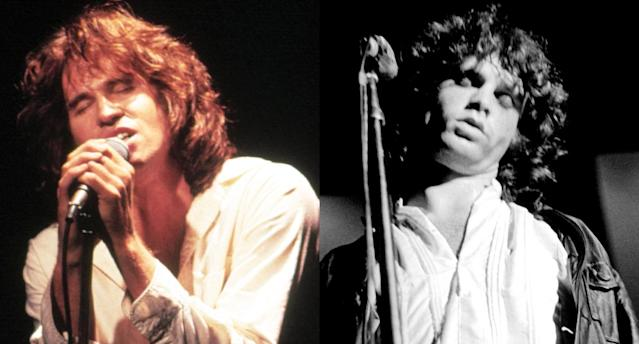 "<p>Val Kilmer both looked and sounded like Jim Morrison, ""the Lizard King,"" in Oliver Stone's 1991 film about his unforgettable rock 'n' roll band, <i>The Doors</i>. (Photo: Courtesy of Everett Collection/Getty Images) </p>"