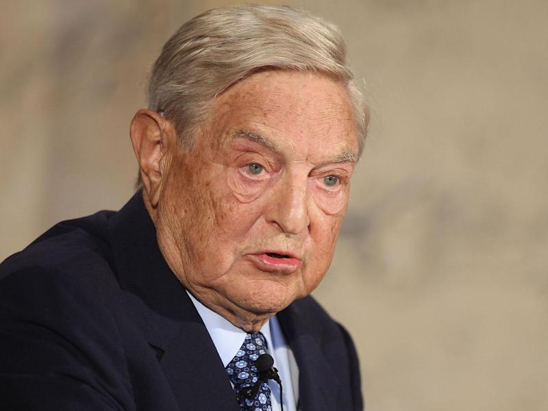 Mr Orban, who has rejected the EU's vision of liberal democracy, has made Soros a frequent victim of political campaigns: Getty