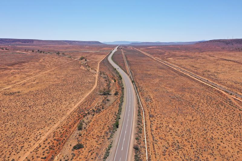 A stock image of a highway in rural South Australia. The woman says things took a creepy turn when she accepted a job on a farm.