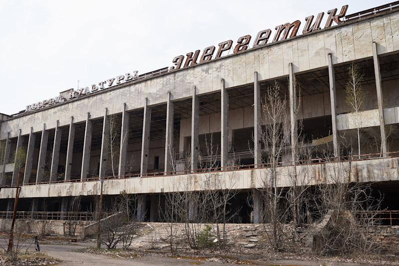 "An abandoned the building of culture ""Energetic"" in the Pripyat, near the Chernobyl nuclear power plant in the Exclusion Zone, Ukraine. (Photo: Vitaliy Holovin/Corbis via Getty images)"