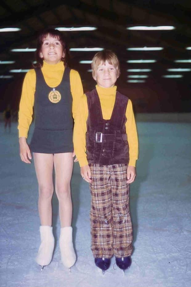 Future skiers Brian and Karen Stemmle as figure skaters.