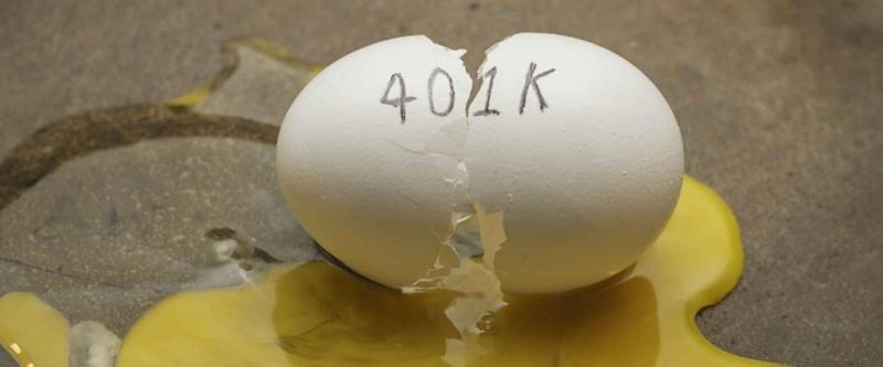 401K broken nest egg concept
