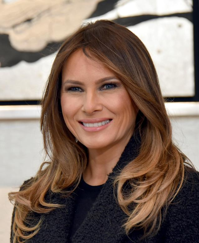 Melania Trump pictured in November 2017. (Photo: Katsumi Kasahara/AFP/Pool/Anadolu Agency/Getty Images)