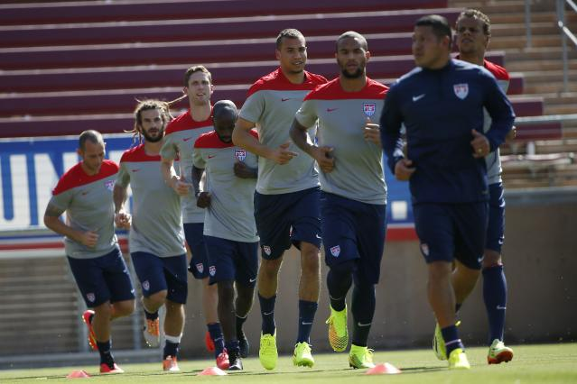Members of the U.S. men's national soccer team prepares for World Cup in Stanford