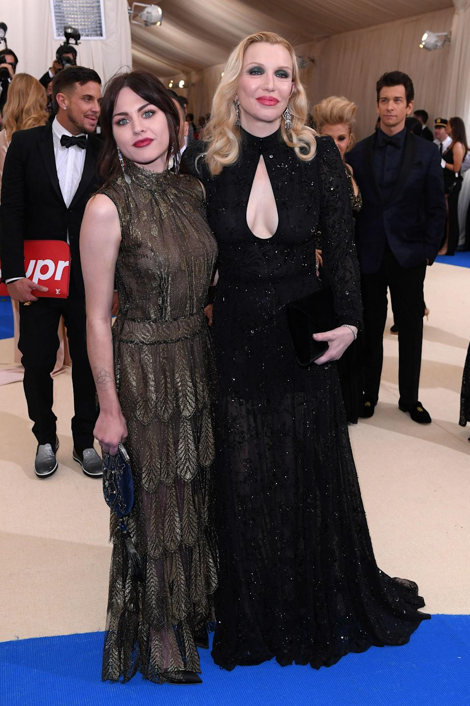 """<h1 class=""""title"""">Frances Bean Cobain and Courtney Love in Marc Jacobs, Neil J. Rodgers shoes and Tyler Ellis bag</h1> <cite class=""""credit"""">Photo: Shutterstock</cite>"""