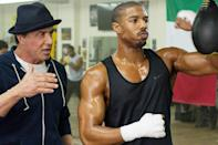 """<p>This <i>Rocky</i> reboot scored <a href=""""http://www.forbes.com/sites/scottmendelson/2015/11/29/box-office-creed-goes-the-distance-with-42-6m-weekend/"""" rel=""""nofollow noopener"""" target=""""_blank"""" data-ylk=""""slk:the 10th-biggest Thanksgiving debut of all time"""" class=""""link rapid-noclick-resp"""">the 10th-biggest Thanksgiving debut of all time</a> ($42 million over the long weekend) by smartly pairing an appealing new star (Michael B. Jordan) with the original Italian Stallion (Sylvester Stallone) in a story that honored the roots of the Philly-based boxing film franchise. (Photo: Warner Bros.)</p>"""