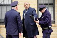 <p>Forest Whitaker gets into character on Thursday on the New York City set of <em>Godfather of Harlem.</em></p>