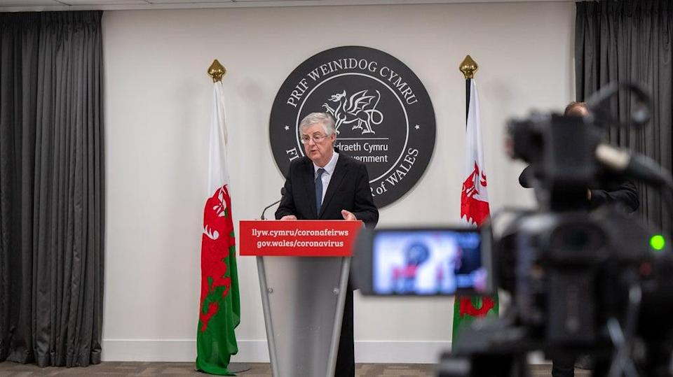 Wales's First Minister, Mark Drakeford, said he is concerned about plans to scrap PCR tests for travellers entering the UK (Welsh Government/PA)