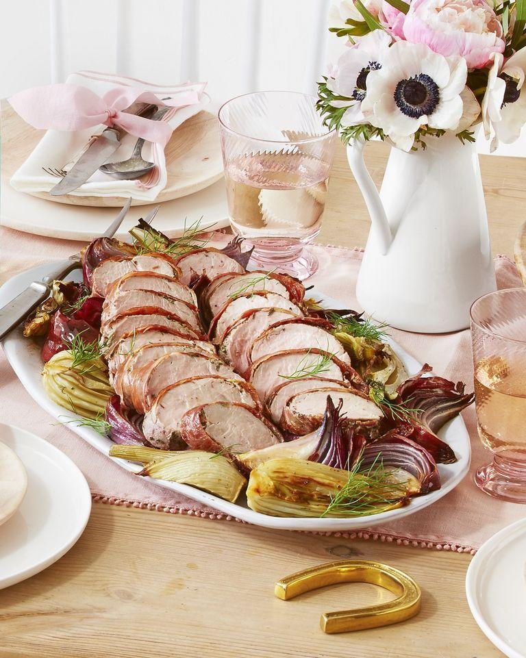 """<p>We'll take anything that's wrapped in prosciutto, but this pork tenderloin sounds out-of-this-world delicious.</p><p><strong><a href=""""https://www.countryliving.com/food-drinks/a26822147/prosciutto-wrapped-pork-tenderloin-roasted-fennel-recipe/"""" rel=""""nofollow noopener"""" target=""""_blank"""" data-ylk=""""slk:Get the recipe"""" class=""""link rapid-noclick-resp"""">Get the recipe</a>.</strong></p><p><strong><strong><strong><strong><a class=""""link rapid-noclick-resp"""" href=""""https://www.amazon.com/Victoria-Skillet-Seasoned-Flaxseed-Certified/dp/B01726HD72/?tag=syn-yahoo-20&ascsubtag=%5Bartid%7C10050.g.1115%5Bsrc%7Cyahoo-us"""" rel=""""nofollow noopener"""" target=""""_blank"""" data-ylk=""""slk:SHOP SKILLETS"""">SHOP SKILLETS</a></strong></strong></strong><br></strong></p>"""