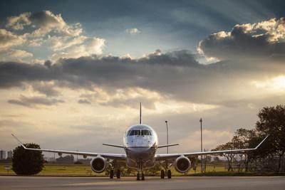 ExpressJet Airlines' first of 25 new Embraer E175 aircraft.