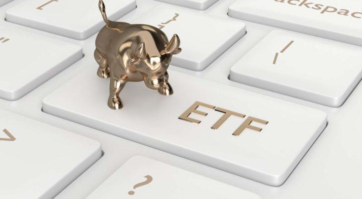 keyboard featuring a bull on the etf key