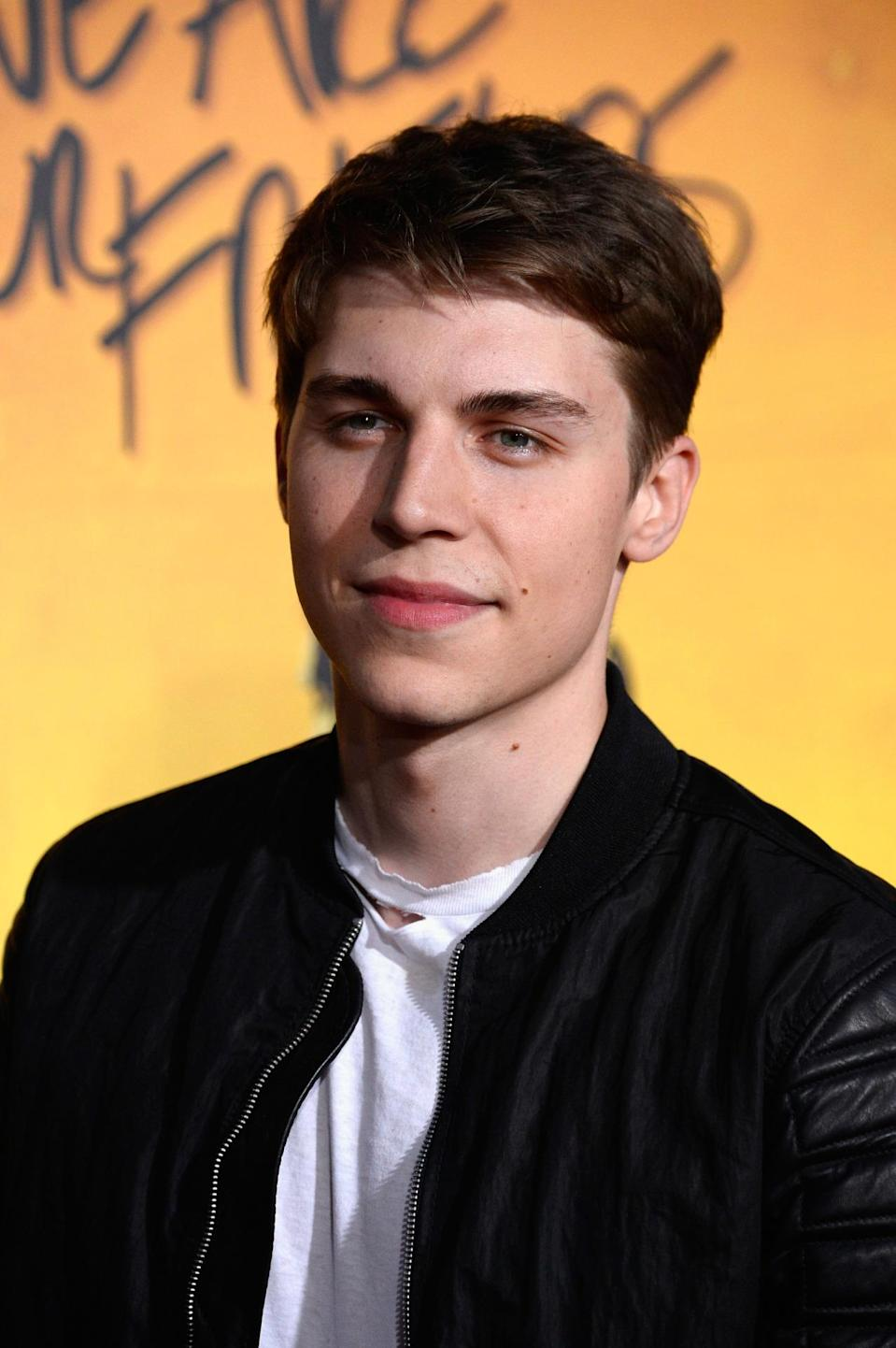 """HOLLYWOOD, CA - AUGUST 20:Actor Nolan Gerard Funk arrives at the Premiere Of Warner Bros. Pictures' """"We Are Your Friends"""" at TCL Chinese Theatre on August 20, 2015 in Hollywood, California. (Photo by Frazer Harrison/Getty Images)"""