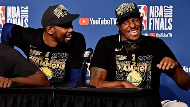Andre Iguodala answered the question in a way only the 2015 NBA Finals MVP can ...
