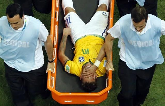 Soccer-Brazil's Neymar out of World Cup with back injury