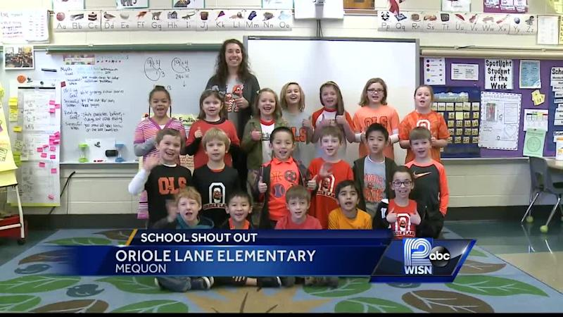 Good Thursday morning from students at Oriole Lane Elementary School in Mequon!
