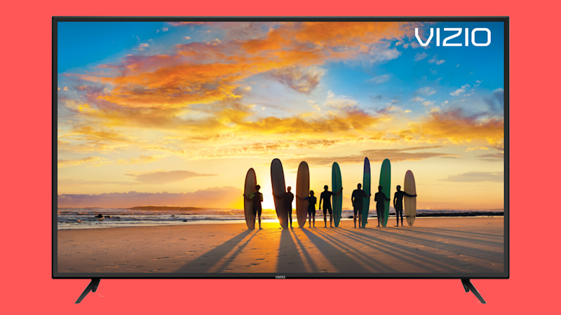 Vizio 75-inch 4K TV on red background. (Photo: Walmart)