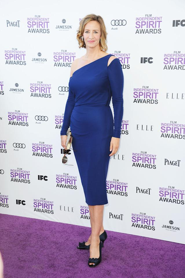 SANTA MONICA, CA - FEBRUARY 25:  Actress Janet McTeer arrives at the 2012 Film Independent Spirit Awards on February 25, 2012 in Santa Monica, California.  (Photo by Alberto E. Rodriguez/Getty Images)