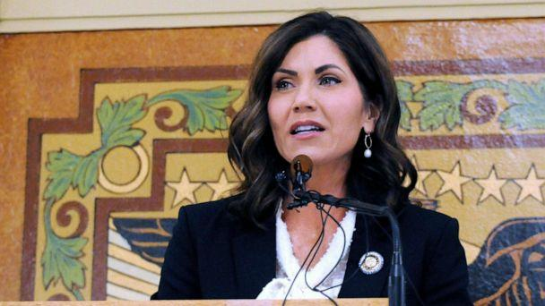 PHOTO: South Dakota Gov. Kristi Noem gives her first State of the State address in Pierre, S.D. South Dakota, Jan. 2019. (James Nord/AP, FILE)