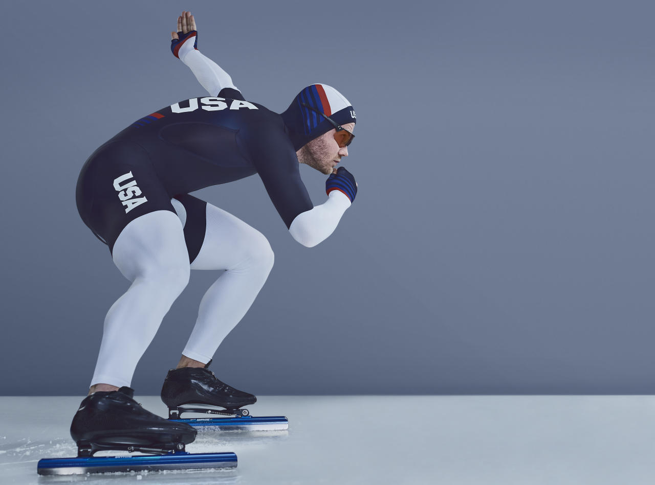 <p>Joey Mantia is a U.S. speed skater and reigning world champion in the mass start. He will compete in the 2018 Olympics in PyeongChang. (Photo: courtesy of Under Armour) </p>
