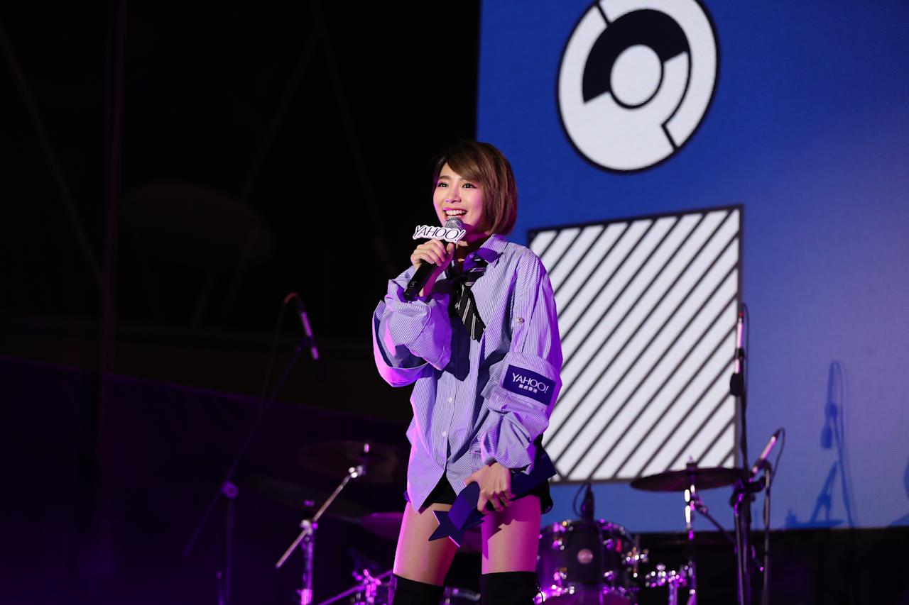 <p>Malaysian singer MinChen Lin at the Yahoo Asia Buzz Awards 2017 in Hong Kong on Wednesday (6 December).</p>