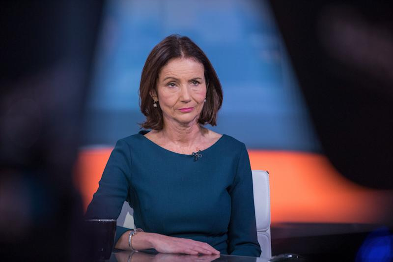 Carolyn Fairbairn, director general of the Confederation of British Industry (CBI), pauses during a Bloomberg Television interview in London, U.K., on Tuesday, Nov. 28, 2017. Business SecretaryGreg Clarksaid reviving Britains flagging productivity lies at the heart of the industrial strategy the government unveiled on Monday to help chart the future of the countrys economy as it leaves the European Union. Photographer: Jason Alden/Bloomberg via Getty Images