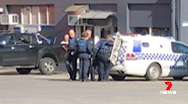 The father, aged in his 50s, was arrested at the scene and interviewed by police. Picture: 7 News
